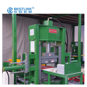 Bestlink Factory 70ton Four Blades Hydraulic Sawn Stone Guillotine Splitting Machine