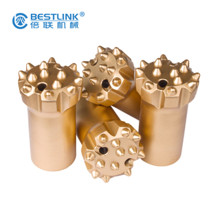 Hard Rock Ballistic Button Bits , Hole Drill Bit With High Drilling Efficiency