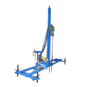 Pneumatic mobile mining rock drill rig